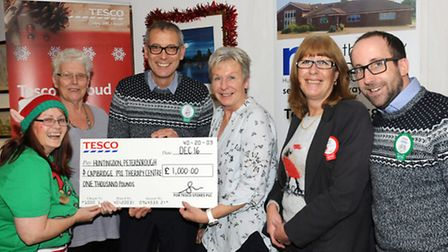 Alyce Barber Community Champion (Tesco) , Pauline Holmes Chairlady Trust, Guy Schwabe Store Manager