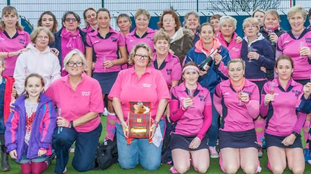 St Albans Hockey Club's Bodiceas pay tribute to club member Jacqui Barford. Picture: CHRIS HOBSON