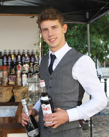 Tom promoting his hospitality business, Elsie Road