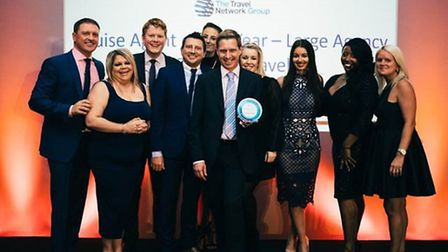 Premier Travel staff presented with their award for Cruise Agent of the Year on the night.