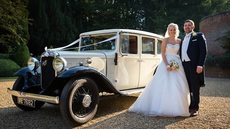 Sophie and Nick on their wedding day. Picture: Nick Bailey