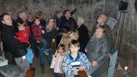 People in Royston Cave saw the chamber as it would have been in medieval times. Picture: R&DLHS