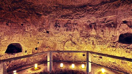 Royston Cave by Candlelight. Picture: P Ranson