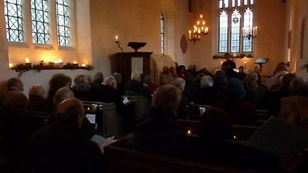 St Mary Magdalene in Caldecote near Ashwell had their fourth Carols by Candlelight service.