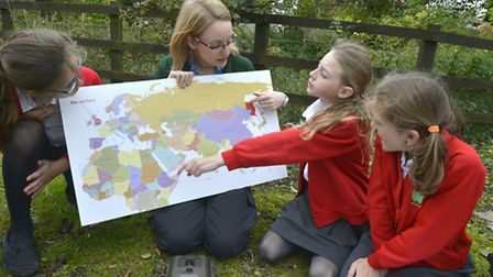 Sam Viner leads an education session at Whipsnade.