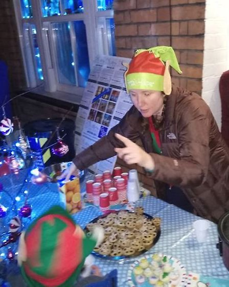 Organiser Claire Toms dressed for the occasion in full elf regalia