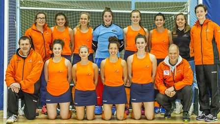 St Albans Hockey Club's ladies indoor team finished fourth in Division One. Picture: CHRIS HOBSON