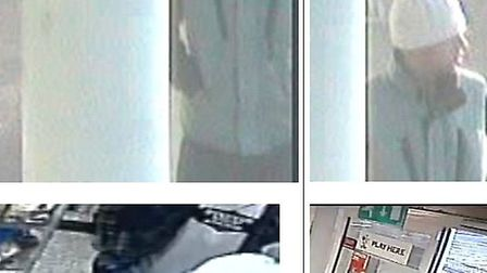 Police would like to speak to these men in connection with a burglary in Wyton.