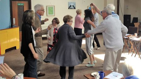 Councillor Ian Jackson leading a dance session for people with dementia