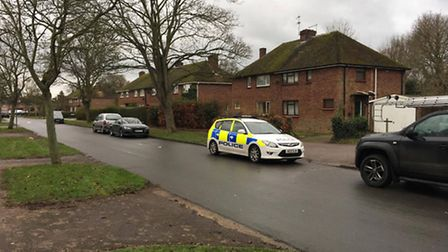 Police remained near the property in Houghton Road this morning (January 9)