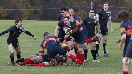 Harry Gough got Tabard's only try in the 21-7 defeat at Hampstead. Picture: DANNY LOO