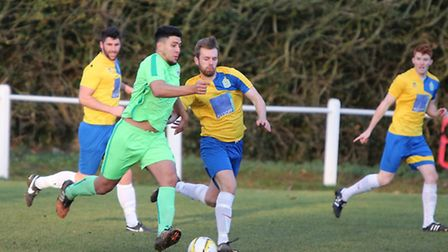 Harpenden Town beat Langford to stay top of SSML Division One. Picture: MELISSA PAGE