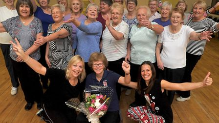Janet Bedingfield on her last day at the Priory Centre
