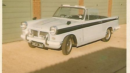 Colin Foster bought Eric Morecambe's Triumph Herald convertible in 1968 (pictured here)