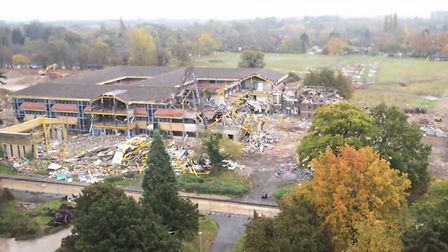 Demolition of administration building at RAF Brampton