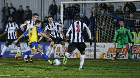 Sam Merson scored a late equaliser for the second week running. Picture: LEIGH PAGE