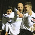 Matt Nolan celebrates one of his two goals. Picture: Kevin Richards