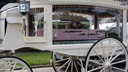 The funeral was held last year, following the death of Sue Jones (Susan Browning) in hospital