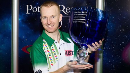 Reigning champion Nicky Brett hopes to defend the World Indoor Championship singles crown. Picture: