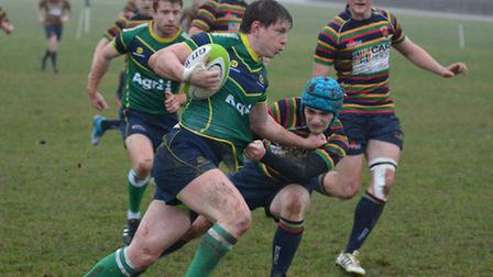 Tad Chapman went over for one of Huntingdon's tries in their win at Dronfield.