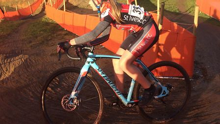 Beatrice Pauley on her way to victory in the Eastern Region League round at Ipswich.