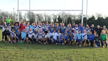 Players from Verulamians, Old Albanian and St Albans rugby clubs helped raise over £500 for charity