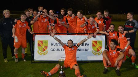 St Ives Town lifted the Hunts Senior Cup in April.