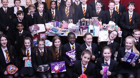 The Marlborough Science Academy in St Albans has been showing plenty of Christmas goodwill