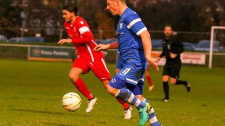 Jon Clements added two more to his tally for the season against Colney Heath. Picture: MARK LONG