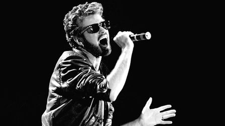 File photo dated 13/07/85 of George Michael of Wham performing at the Live Aid concert at Wembley St