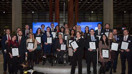 A number of charities received the donation at an awards ceremony in the Lloyd's building.