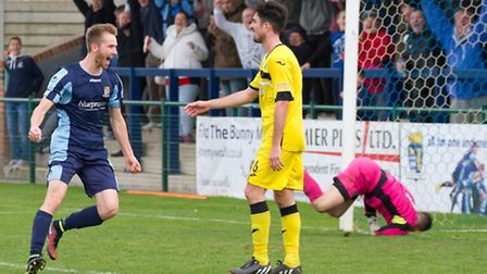 St Neots Town striker Tom Meechan earned a Football League move in February. Picture: CLAIRE HOWES