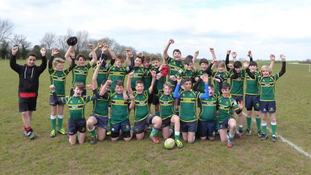 There was double delight for Huntingdon Rugby Club's Under 13 side in March.