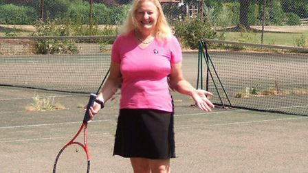 Christine Knight, pictured at Royston Tennis Club, is leading the campaign to help save the tennis c
