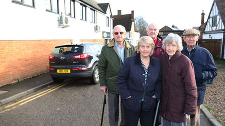 King Edward Place residents (back L-R) Guy Morton-Smith, Colin Willsher and John Wackett (front L-R)