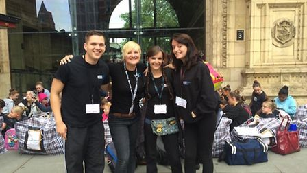 Theatretrain staff at the Royal Albert Hall with Jessica second right.