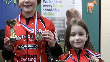 Orla Kenna (left) and Ruby O'Dell (right) finished second overall in their age groups in the Eastern