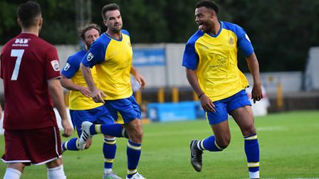 Ryan Johnson, seen scoring against Chelmsford City, has thanked St Albans City after his loan spell