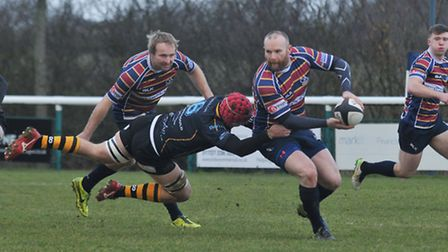 James Shanahan was both proud and frustrated as OAs narrowly lost to Plymouth Albion. Picture: DANNY