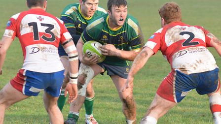 Glen McIntyre scored the first try in Huntingdon's victory against Wellingborough.
