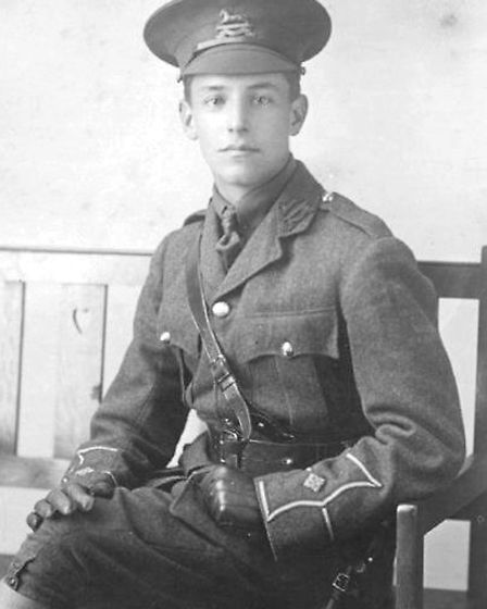 Arthur Skett, 1897-1916. His death was one of many during the Battle of the Somme in 1916.