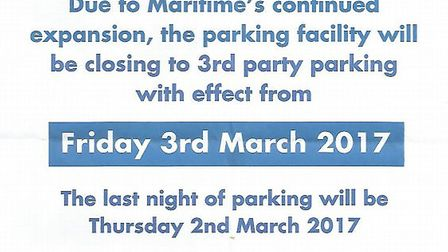 The notice reportedly given to drivers using the Alconbury truck stop this week.