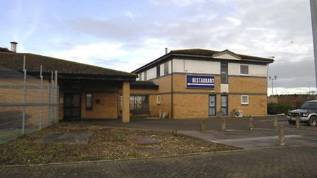 The hotel which adjoins Alconbury truck stop