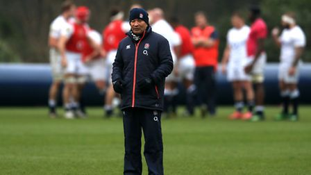 England head coach Eddie Jones during training at Pennyhill Park, Bagshot. Picture: Adam Davy/PA Wir