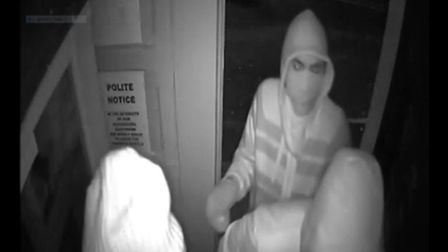 Police would like to speak to these three people in connection with a burglary at The White Swan in