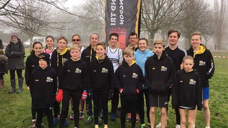 The Huntingdon BRJ junior squad who triumphed in the penultimate round of the Frostbite Friendly Lea
