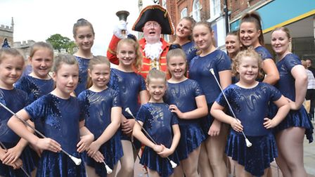 Huntingdon Carnival 2016, Blue Vision Twilers, with St Ives Town Crier Tom Creighton.