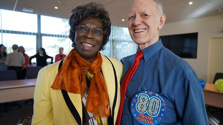 Alan Redfern at his 80th birthday party with his wife Joyce