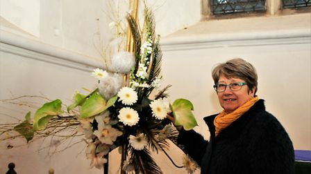Candlemas display by Julie Woods. Picture: Clive Porter