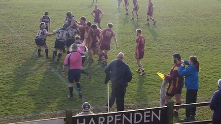 Harpenden just edged Hampstead in a close-fought game at a sunny Redbourn Lane